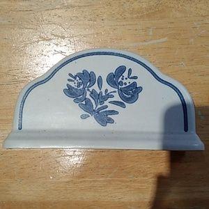 PFALTZGRAF NAPKIN HOLDER BLUE DESIGN POTTERY